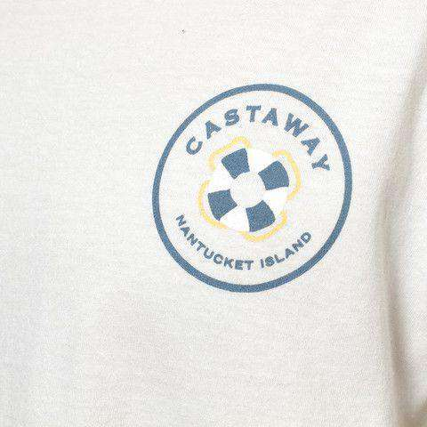 Beach T-Shirt in White with Rubber Turducken by Castaway Clothing - FINAL SALE