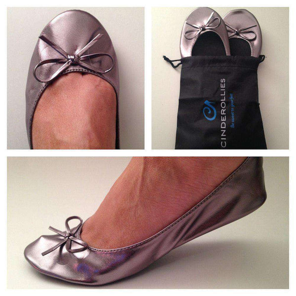 Ballet Flat in Pewter Purple by Cinderollies - FINAL SALE