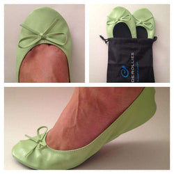 Ballet Flat in Mint Julep Green by Cinderollies