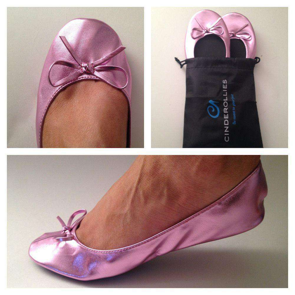 Ballet Flat in Pink by Cinderollies