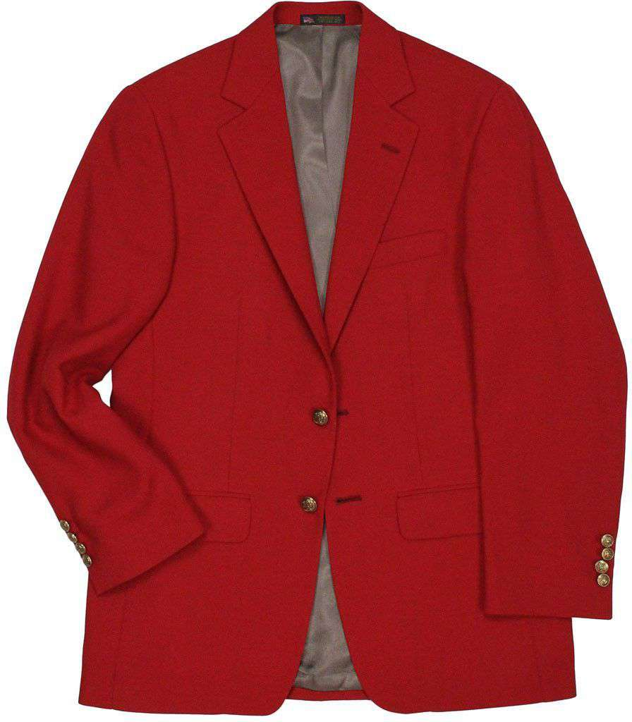 Tailgate Blazer in Crimson Red by Country Club Prep