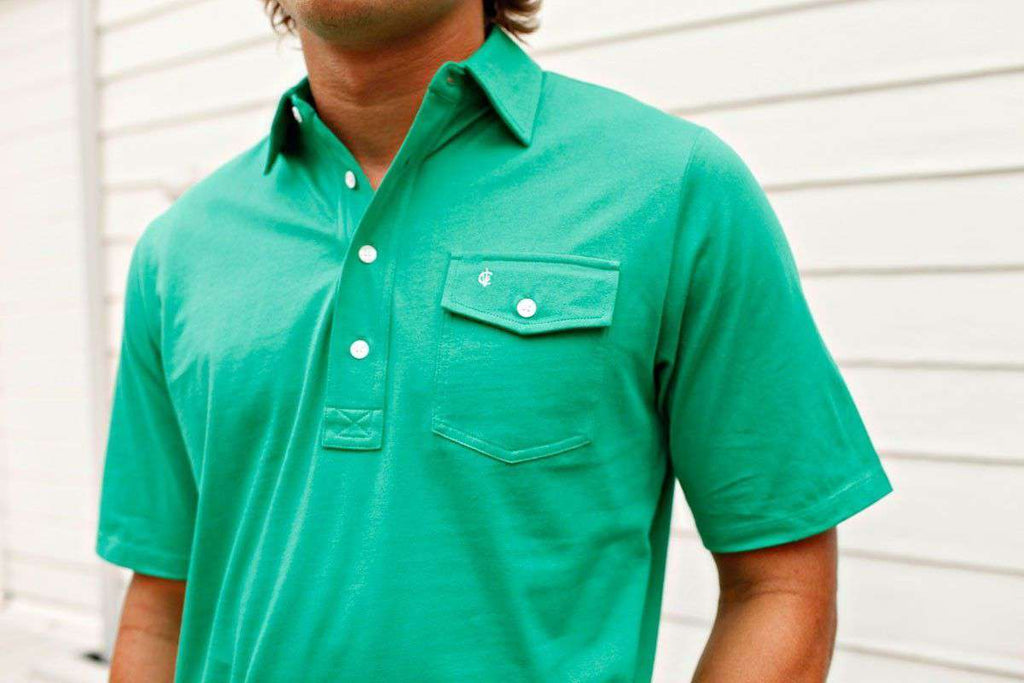 The Players Shirt in Augusta Green by Criquet - Country Club Prep