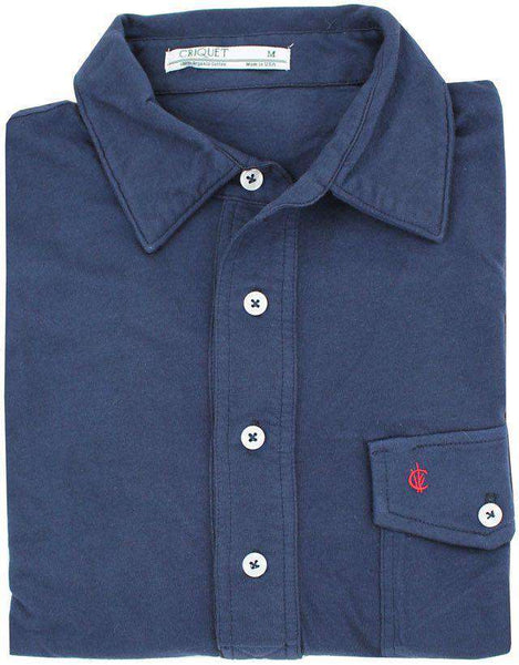 The Players Shirt in Peacoat Navy by Criquet - Country Club Prep