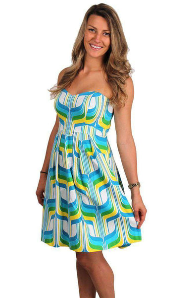 Poolside Strapless Dress in Multicolor by Elizabeth McKay