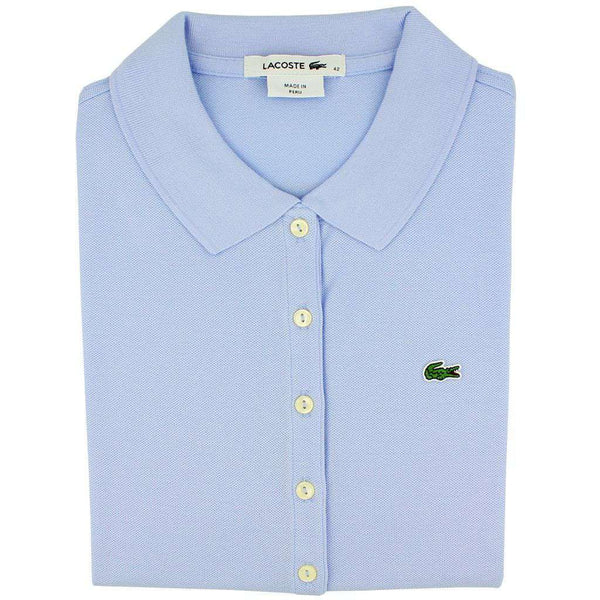 Women's Short Sleeve Classic 5-Button Pique Polo in Lavender by Lacoste