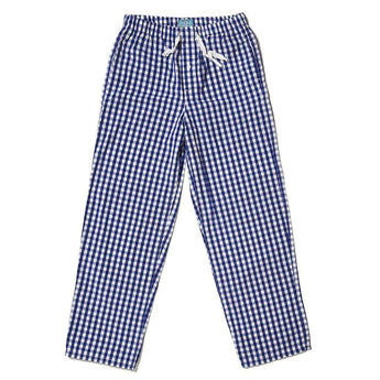 Sleeper Pants in Royal Blue Gingham by Castaway Clothing  - 1