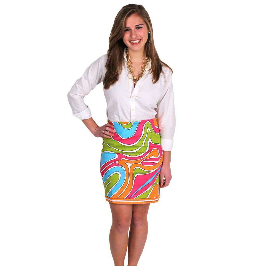 The Sport Skirt in Fever Dance Brights by Gretchen Scott Designs  - 2