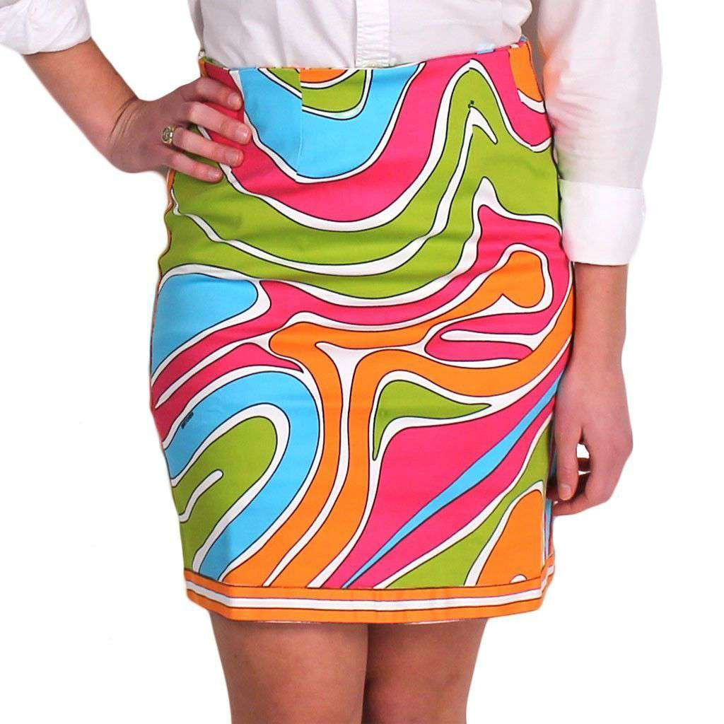 The Sport Skirt in Fever Dance Brights by Gretchen Scott Designs  - 1