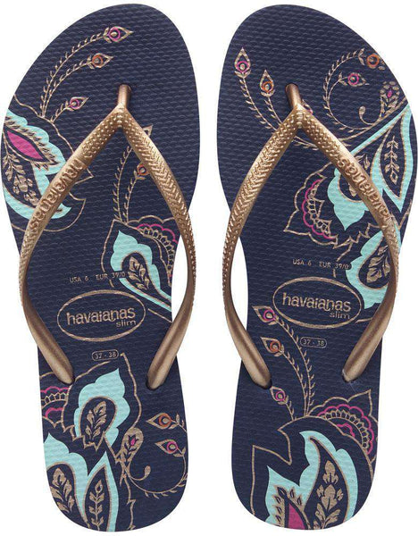 Slim Thematic Sandals in Navy Blue by Havaianas  - 1