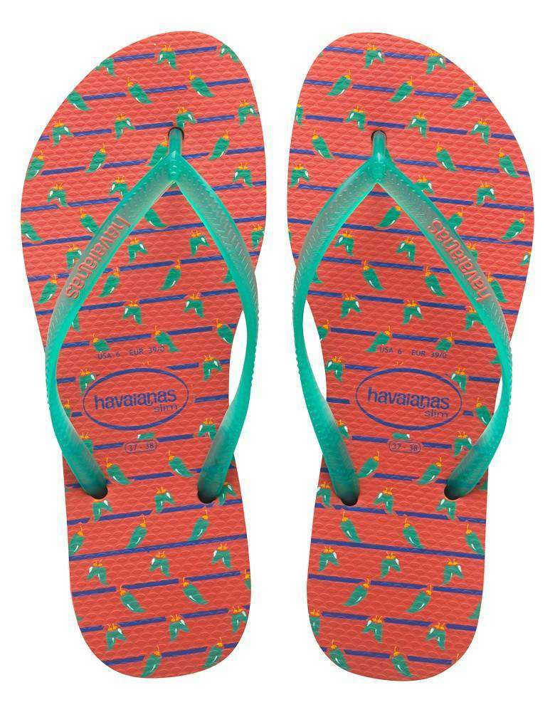Slim Cool Sandals in Salmon by Havaianas  - 1