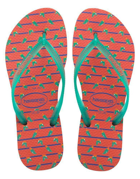 Slim Cool Sandals in Salmon by Havaianas - Country Club Prep