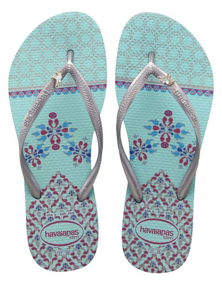 Slim Royal Sandals in Acqua by Havaianas - Country Club Prep