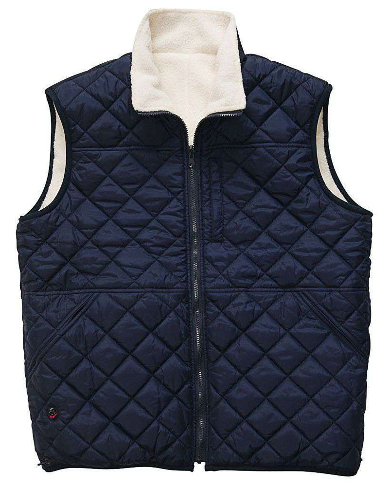 All Prep Reversible Vest in Cream by Southern Proper  - 2