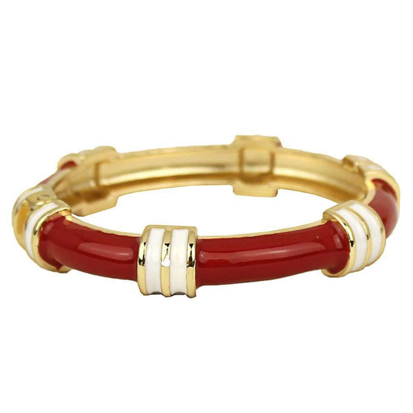 Regatta Bangle in Red and White by Fornash - FINAL SALE