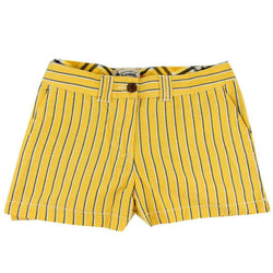 Women's Shorts in Black and Gold Oxford Stripe by Olde School Brand