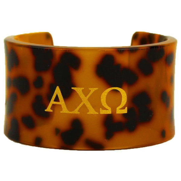 Alpha Chi Omega Tortoise Cuff Bracelet by Fornash - FINAL SALE