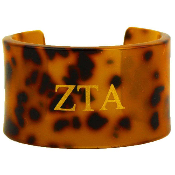 Zeta Tau Alpha Tortoise Cuff Bracelet by Fornash - FINAL SALE