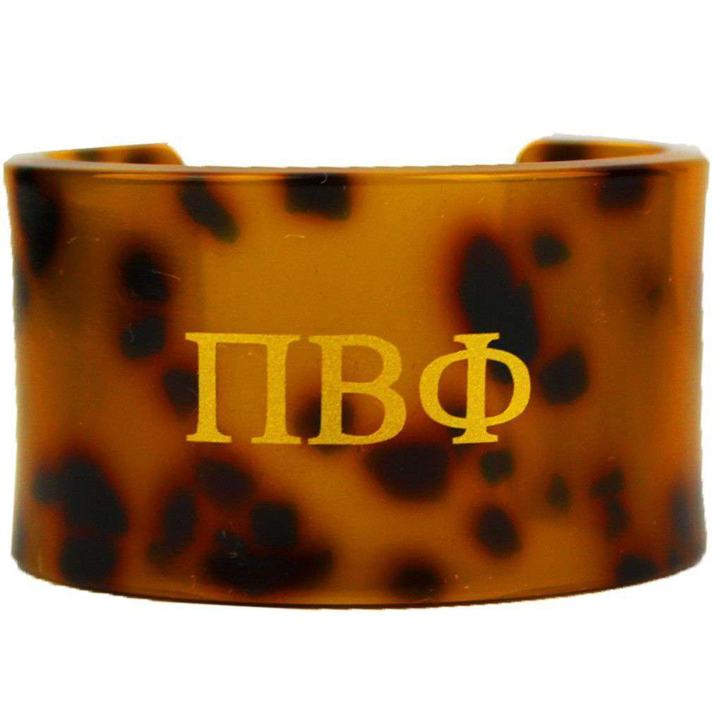 Pi Beta Phi Tortoise Cuff Bracelet by Fornash