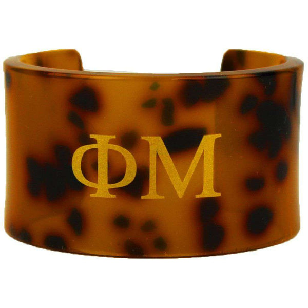 Phi Mu Tortoise Cuff Bracelet by Fornash - FINAL SALE