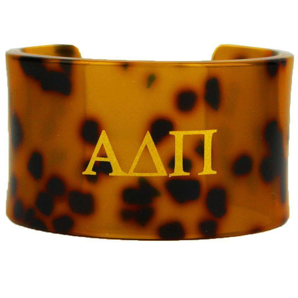 Alpha Delta Pi Tortoise Cuff Bracelet by Fornash - FINAL SALE
