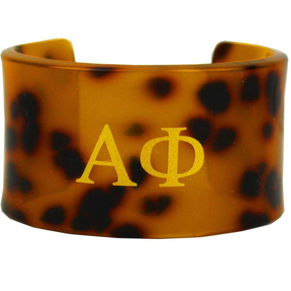 Alpha Phi Tortoise Cuff Bracelet by Fornash - FINAL SALE