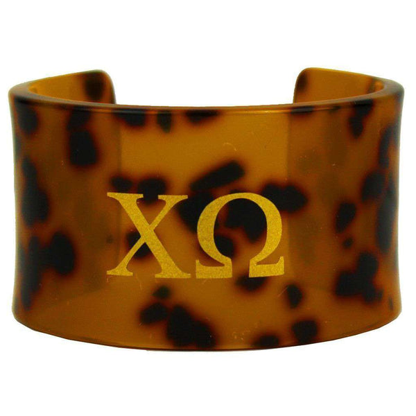 Chi Omega Tortoise Cuff Bracelet by Fornash - FINAL SALE