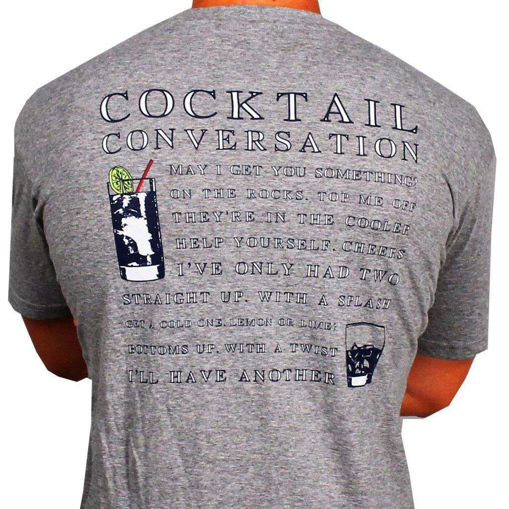 Cocktail Conversation Tee in Grey by Southern Proper  - 1