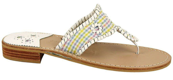Exclusive Multicolor Gingham Seersucker Navajo Sandals by Jack Rogers