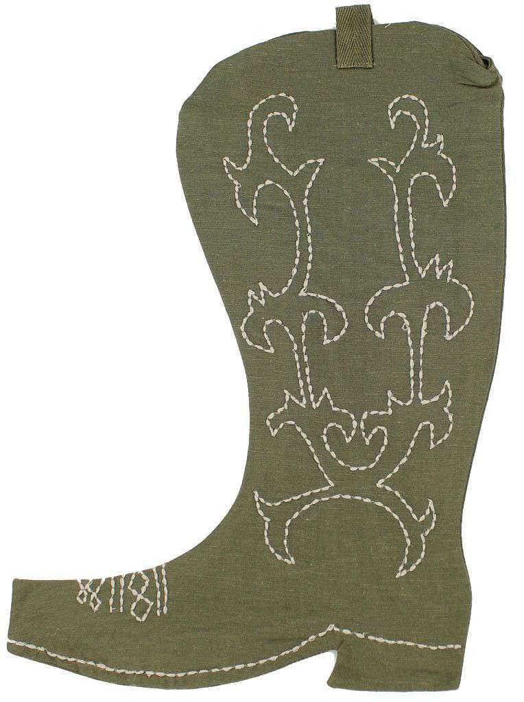 Cowboy Boot Christmas Stocking in Brown by Judith March