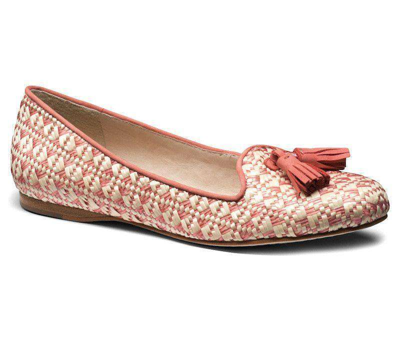 Worth II Smoking Shoe in Rose Raffia by Jack Rogers