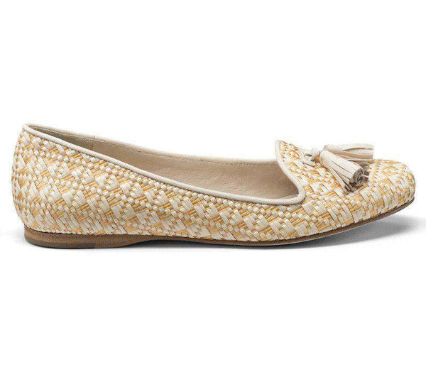 Worth II Smoking Shoe in Sand Raffia by Jack Rogers  - 1