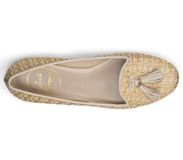 Worth II Smoking Shoe in Sand Raffia by Jack Rogers - FINAL SALE