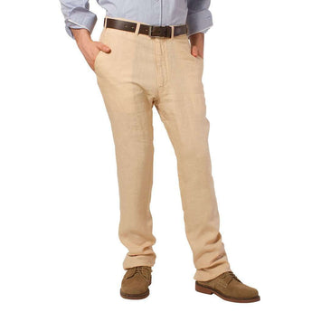 "Lighthouse Linen Pants in Natural (32"" inseam) by Castaway Clothing  - 1"
