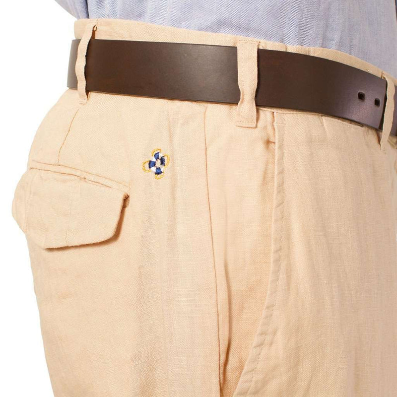 "Lighthouse Linen Pants in Natural (30"" inseam) by Castaway Clothing  - 2"