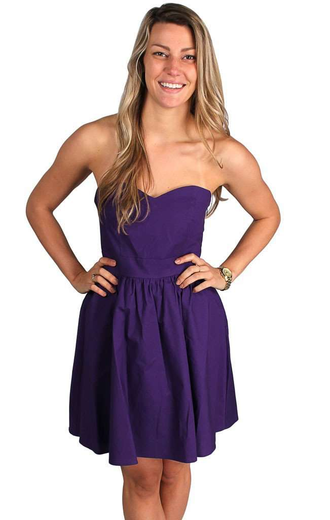 The Savannah Dress in Purple by Lauren James  - 1