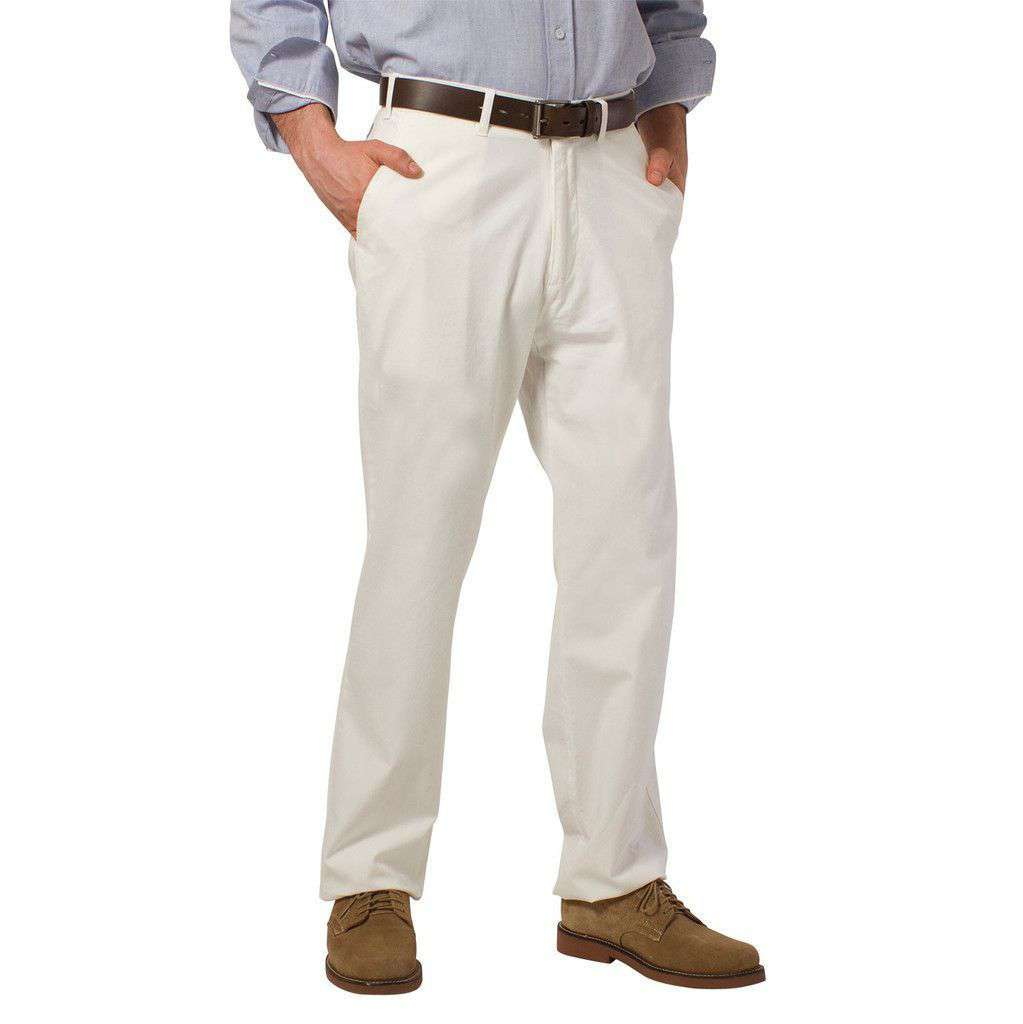 Harbor Pants Plain Memorial White (30 inseam) by Castaway Clothing  - 1