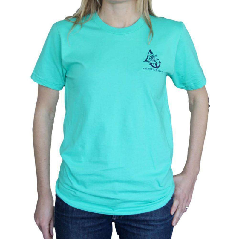 Sailboat Tee in Mint by Anchored Style  - 3