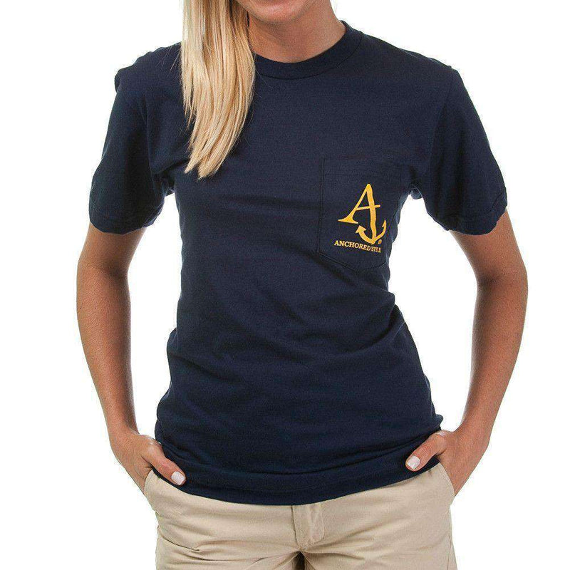 Nautical Flag Tee Shirt in Navy by Anchored Style  - 6