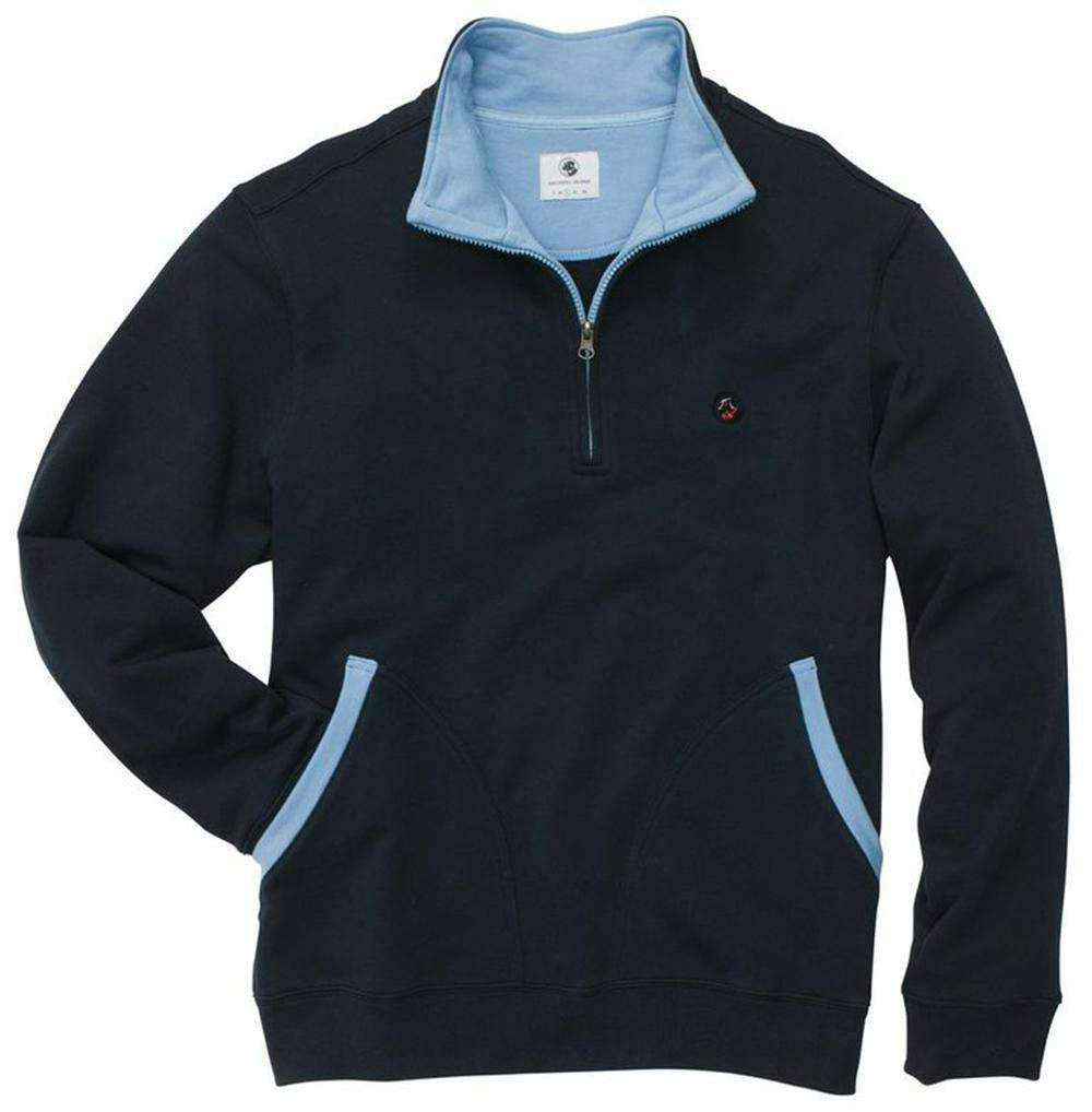 Thomas Pullover in Navy by Southern Proper
