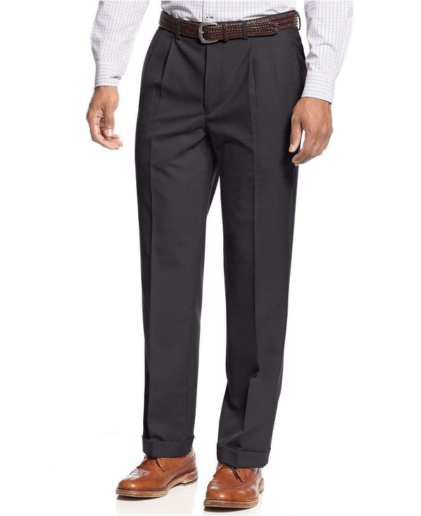 Pleated Dress Trousers in Charcoal by Ralph Lauren