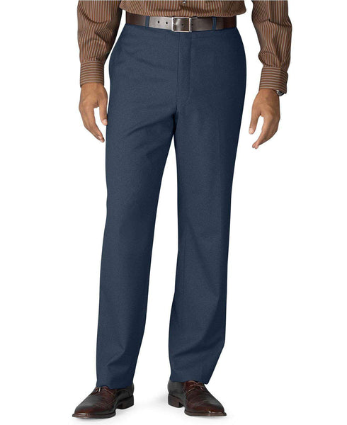 Flat Front Dress Trousers in Navy by Ralph Lauren