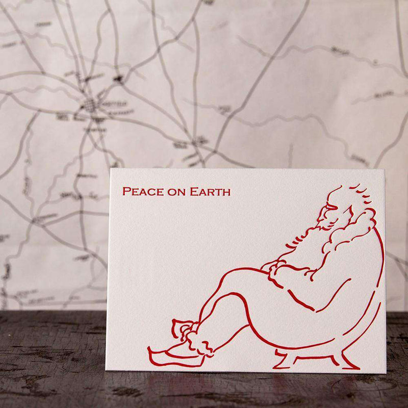 Relaxing Santa Greeting Cards by Ancesserie