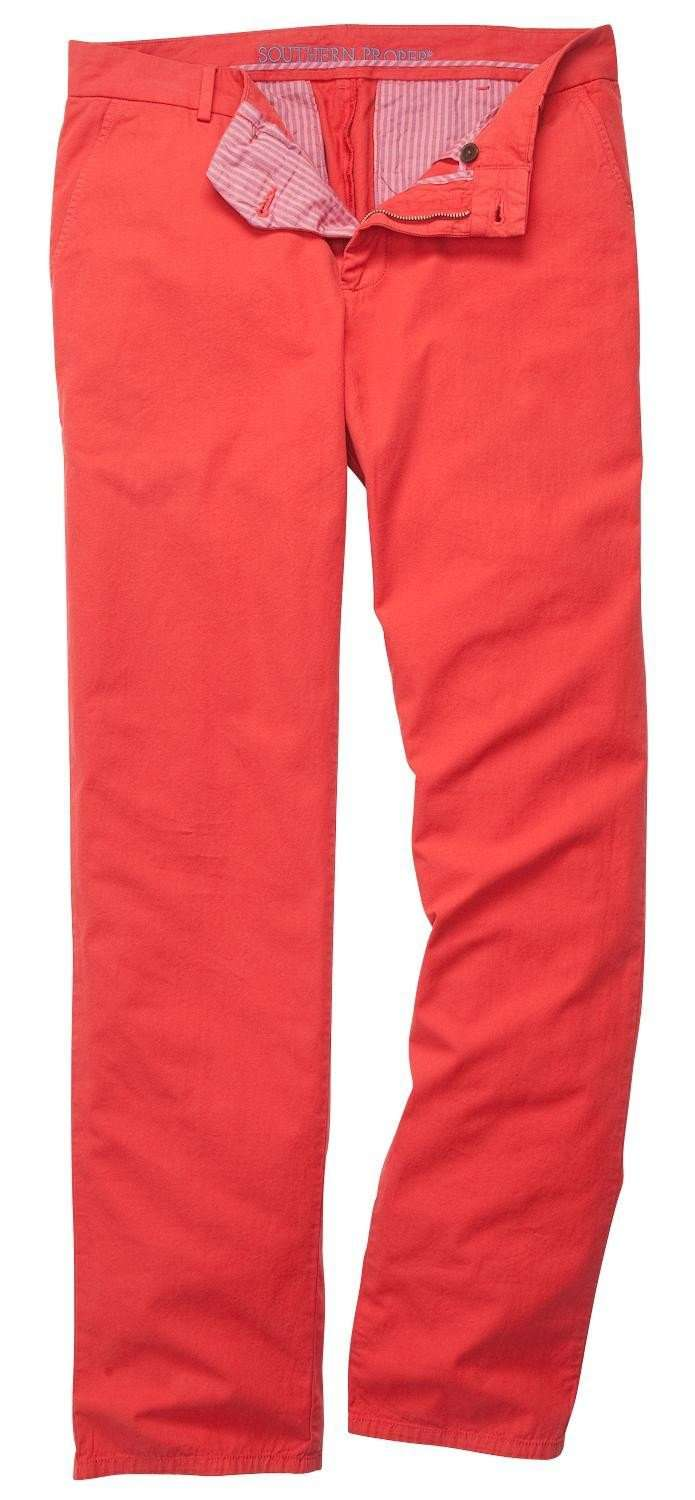 The Campus Pant in Robust Red by Southern Proper