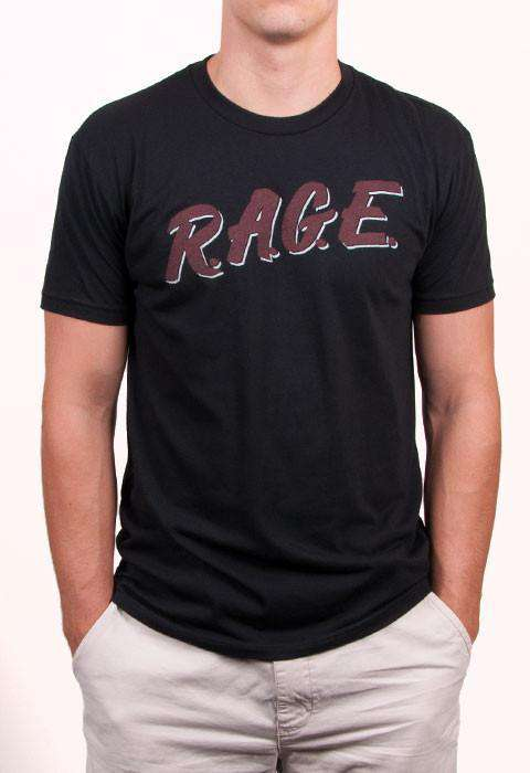 R.A.G.E. Short Sleeve Vintage Tee in Black by Rowdy Gentleman  - 1