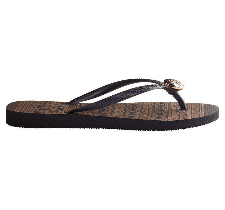 Slim Ceramic Sandals in Black by Havaianas - Country Club Prep