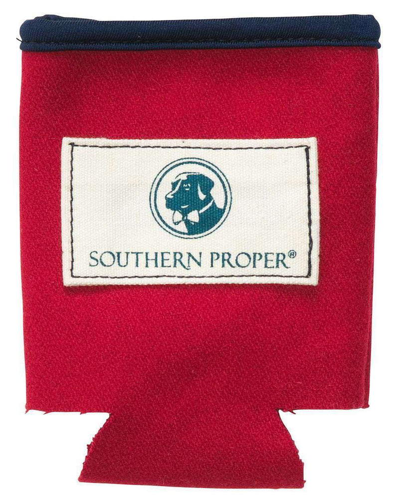 Beer Sweater Can Holder in Red by Southern Proper