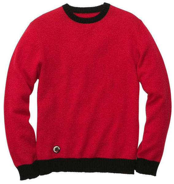 Let-Her Sweater in Red and Black by Southern Proper