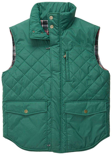 Varsity Vest in Hunter Green by Southern Proper