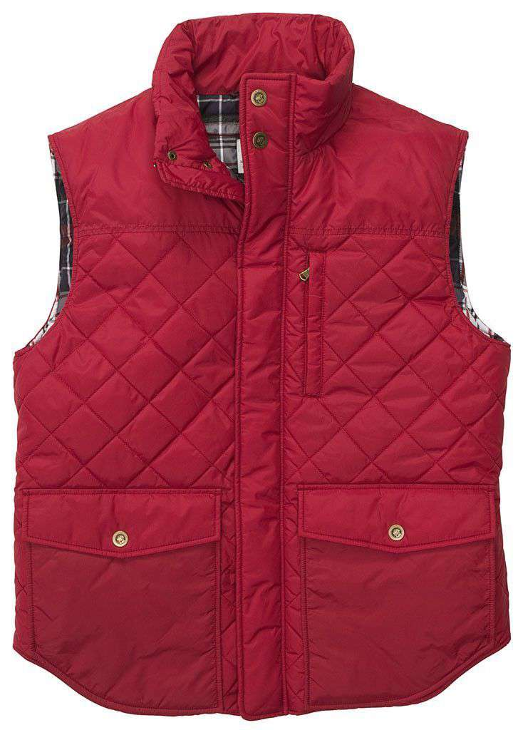 Varsity Vest in Red by Southern Proper