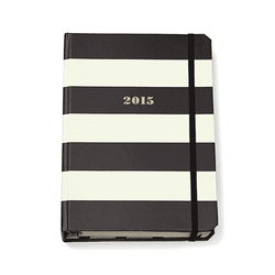 17 Month Large Agenda in Black Stripes by Kate Spade New York